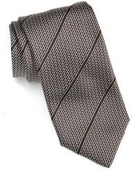 Black Horizontal Striped Tie