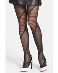 Nordstrom Swirl Sheer Tights Black Smallmedium