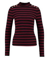 Anna Field Long Sleeved Top Burgundyblack