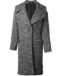 Tagliatore Houndstooth Pattern Oversized Coat