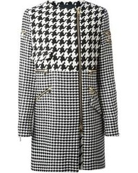 Marco Bologna Zipped Houndstooth Coat