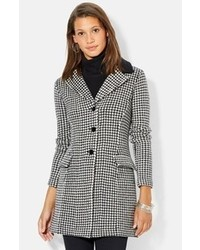 Lauren Ralph Lauren Wool Blend Houndstooth Coat