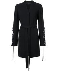 Derek Lam Wrap Jacket With Ruffle Sleeve Detail