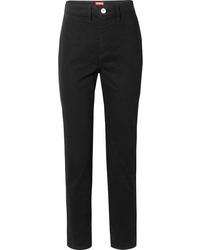 Staud Blonde Two Tone High Rise Slim Leg Jeans