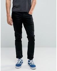 Nudie Jeans Grimtim Slim Jeans Dry Cold Black