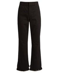 High waisted straight leg frayed hem jeans medium 725854