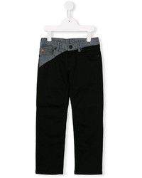 Kenzo Kids Bicoloured Straight Leg Jeans