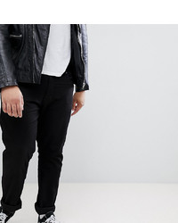 Duke King Size Tapered Fit Jeans In Black With Stretch
