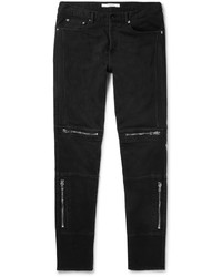 Givenchy Slim Fit Zip Detailed Stretch Denim Jeans