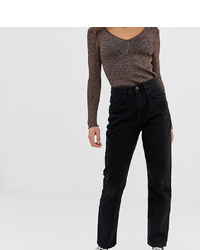 Reclaimed Vintage The 91 Mom Jean In Washed Black