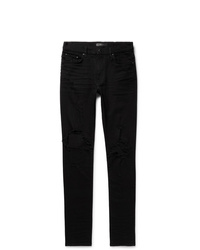 Amiri Thrasher Skinny Fit Distressed Stretch Denim Jeans