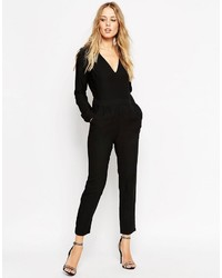 Asos Collection Jumpsuit With V Neck And Peg Leg