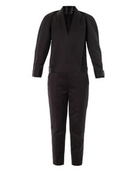 Alexander Wang Compact Twill Tuxedo Jumpsuit