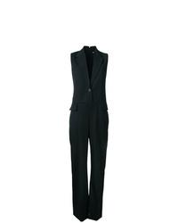 Stella McCartney Frayed Sleeveless Blazer Jumpsuit