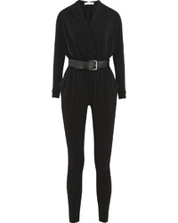 MICHAEL Michael Kors Michl Michl Kors Belted Stretch Jersey Jumpsuit Black