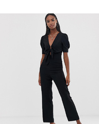 Fashion Union Tall Tie Front Jumpsuit