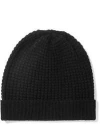 Holby waffle knit cashmere beanie black medium 1251619