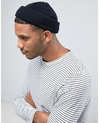 ASOS DESIGN Mini Fisherman Beanie In Black