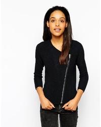Julieta ladder knit biker jacket medium 281209