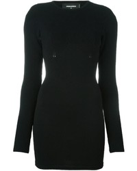 Black Knit Bodycon Dress