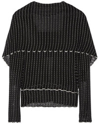 Roland Mouret Charp Cape Effect Knitted Top Black