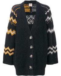 Zigzag knit cardigan medium 5052960
