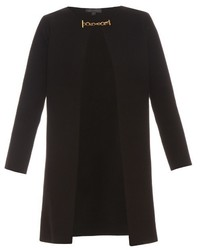 Burberry Prorsum Collarless Wool And Cashmere Blend Knit Coat