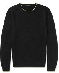 Black Knit Crew-neck Sweater