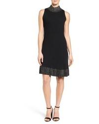 MICHAEL Michael Kors Michl Michl Kors Embellished Sleeveless Knit Fit Flare Dress