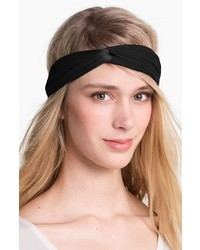 L. Erickson Interlock Turban Headband Black