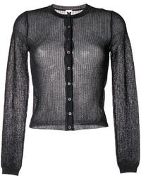 Open knit cardigan medium 4346597