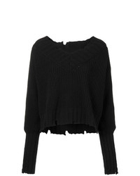 MSGM Chunky Knit Ripped Edge Sweater
