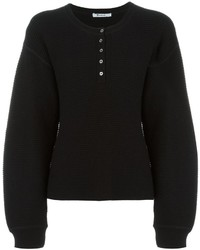 Alexander Wang T By Waffle Knit Oversized Jumper