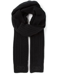Salvatore Ferragamo Cable Knit Scarf
