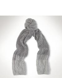 Ralph Lauren Ombr Aran Knit Scarf