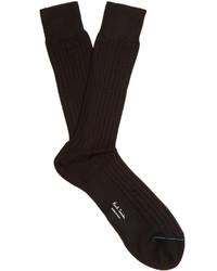 Paul Smith Cotton Ribbed Knit Socks