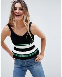 ASOS DESIGN Cami With Ruffle Stripe Hem