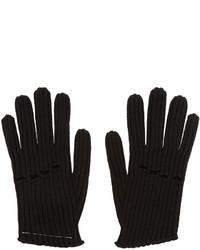 Black Knit Wool Gloves