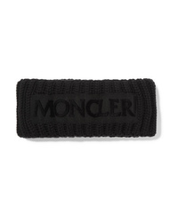Moncler Flocked Med Ribbed Wool Headband