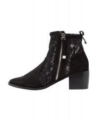 Miss Selfridge Dayton Ankle Boots Black