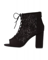 New Look Wide Fit Vintage High Heeled Ankle Boots Black