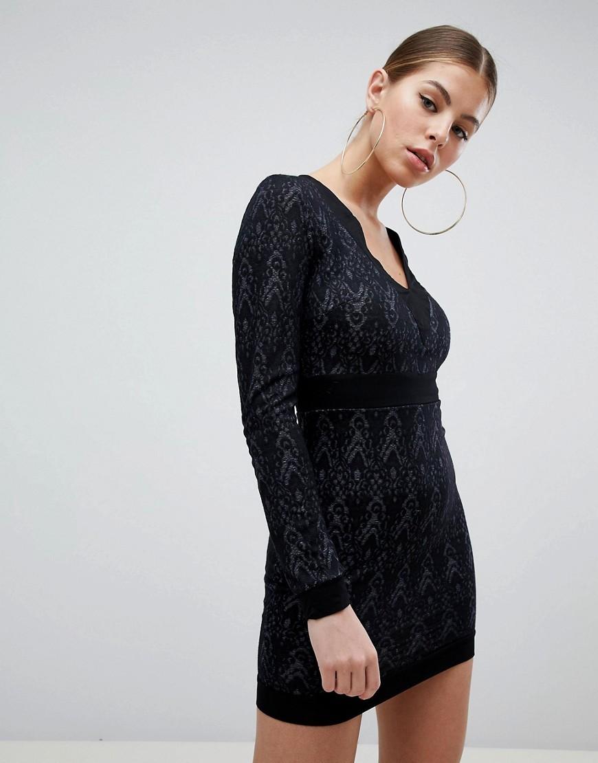 c027aff125f Black Bodycon Lace Dress Uk