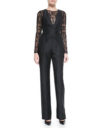 Murad Zuhair Long Sleeve Lace Top Jumpsuit