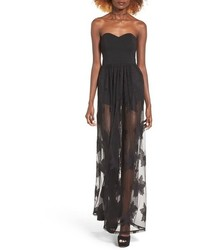 Leith Strapless Lace Maxi Dress