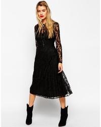 d3336bd171 ... Asos Collection Lace Pleat Midi Dress