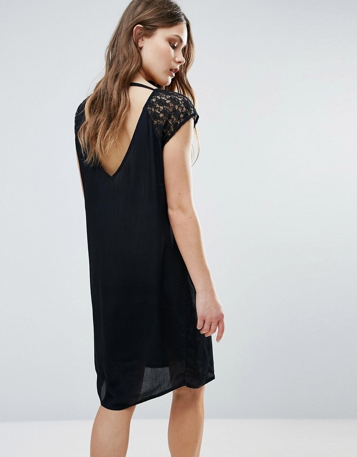 31 Byoung Midi Dress With Lace Sleeve Open Back