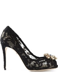 Dolce & Gabbana Lace Embellished Pumps