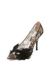 Rochas Lace Pumps With Front Bow