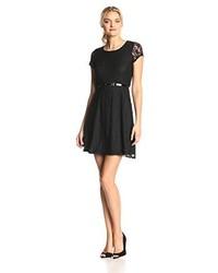 Star Vixen Short Sleeve Lace Skater Dress