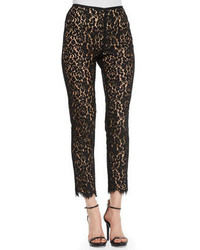 Black Lace Skinny Pants